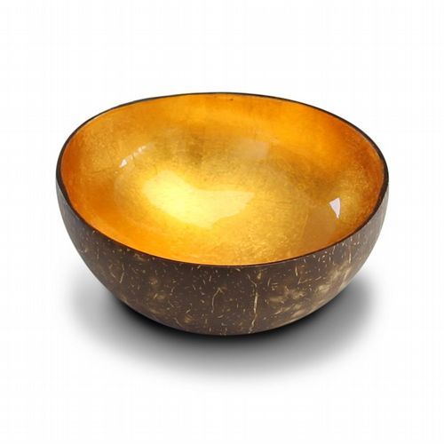Coconut Bowl - Metallic Leaf - Gold